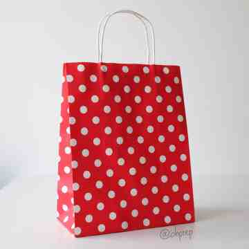 Paper Bag M Polkadot Red image