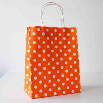 Paper Bag M Polkadot Light Orange image