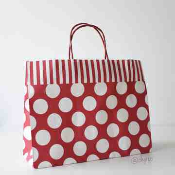 Paper Bag L Polkadot Red image