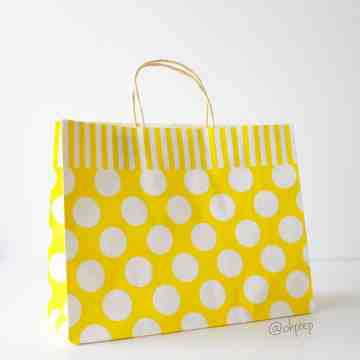 Paper Bag L Polkadot Yellow image
