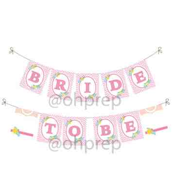 Bridal Shower Banner Pretty in Pink image