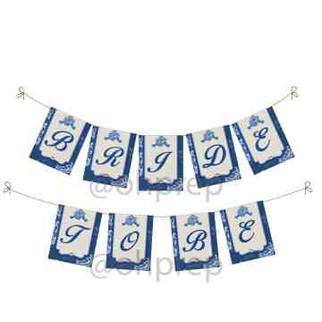 Bridal Shower Banner Something Blue image
