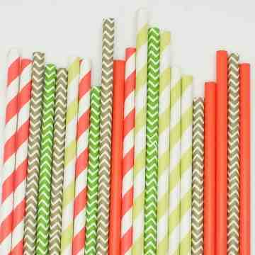 Paper Straws Holly Jolly image