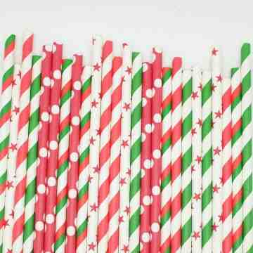 Paper Straws O Christmas Tree image