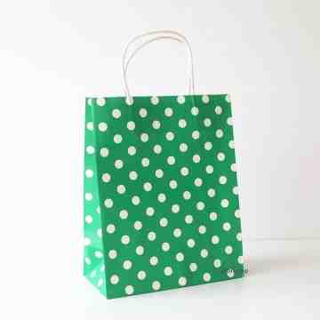 Paper Bag M Polkadot Dark Green image