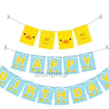 Birthday Banner Yellow Duckie image