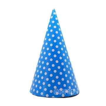Party Hat Polkadot Blue image