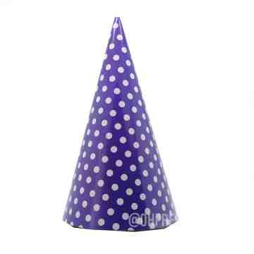 Party Hat Polkadot Purple image