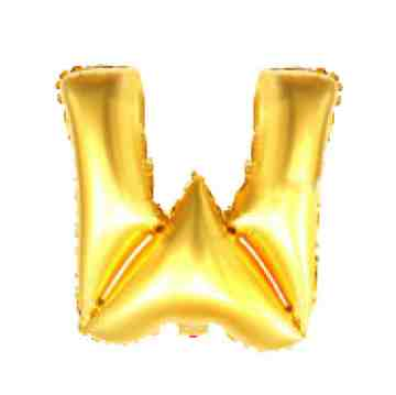 Alphabet Balloon Gold W image