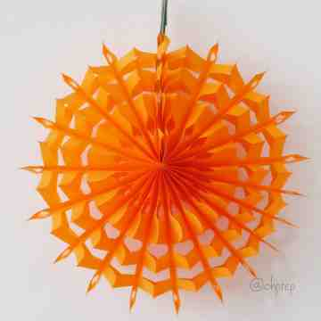 Paper Snowflakes Orange image