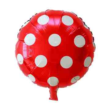Polkadot Red Foil Balloon image