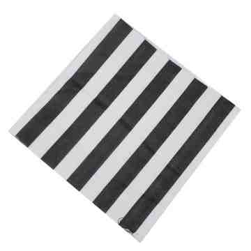 Paper Napkin - Black Stripes image