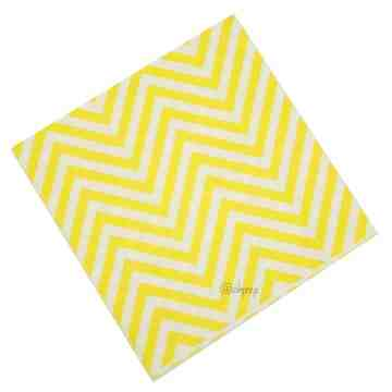 Paper Napkin Chevron Yellow image
