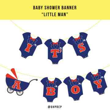 Baby Shower Banner - Little Man image