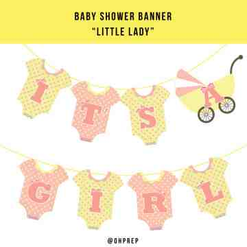 Baby Shower Banner - Little Lady image