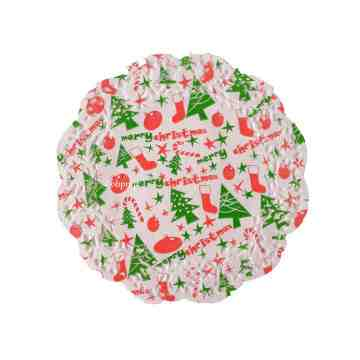 "Christmas Doilies 7.5"" Merry Christmas image"
