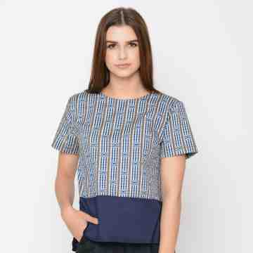 ONIISAN WOMEN SHORT SLEEVED BLOUSE