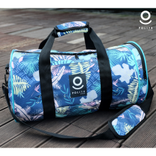 Flower Duffle Bag Navy
