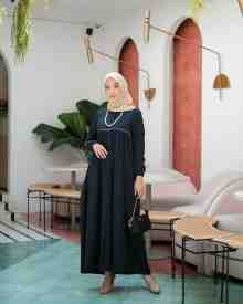 Mina Dress Navy - size L