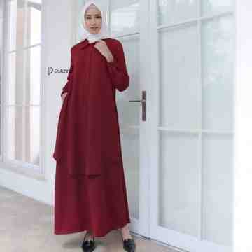 GRACE DRESS SCARLET
