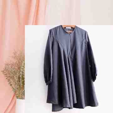 MELORY BLOUSE - EBONY BLUE