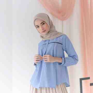GLYN BLOUSE - BLUEBASH