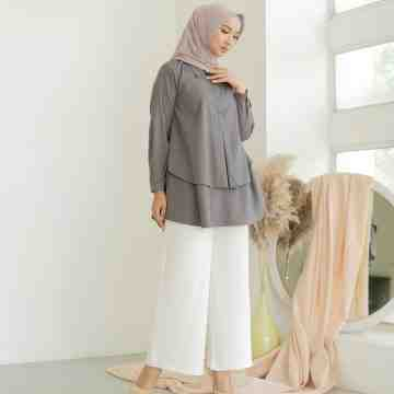 GRACE BLOUSE - CHARCOAL