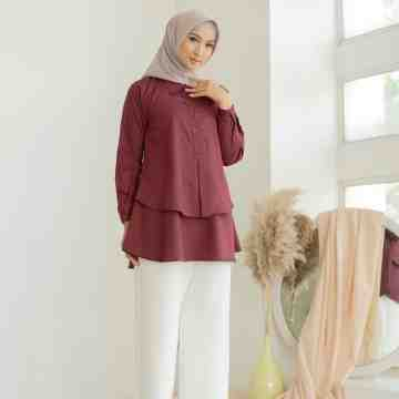 GRACE BLOUSE - WINE