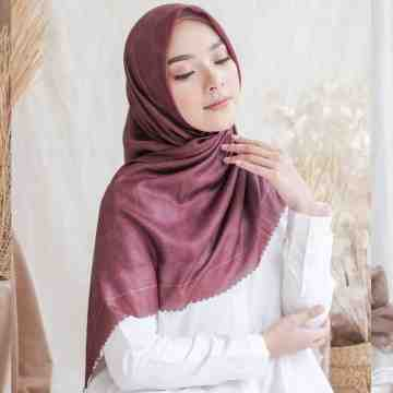 MONOGRAM SCARF - DARK BERRY