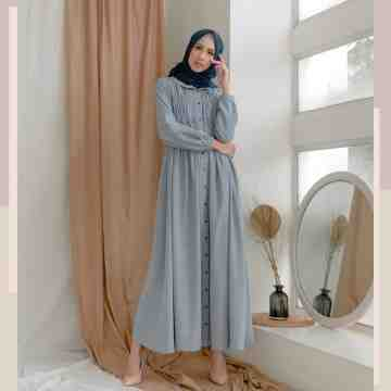 SMOCK DRESS - KIND BLUE
