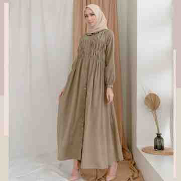 SMOCK DRESS - BROWNY