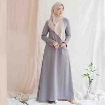 DEMY DRESS - WARM GREY