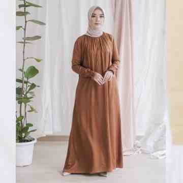 AUREE DRESS - MAHOGANY