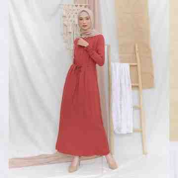 AUREE DRESS - SALMON ROSE