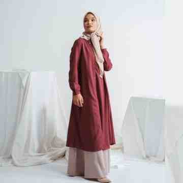 MIZZY DRESS - LEMAROON