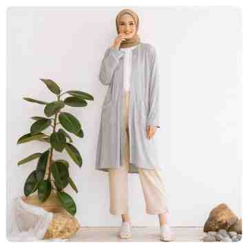 LONG CARDI OUTER - BEGRAY