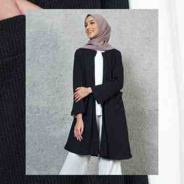 LONG CARDI OUTER VOL.4 - BASIC BLACK