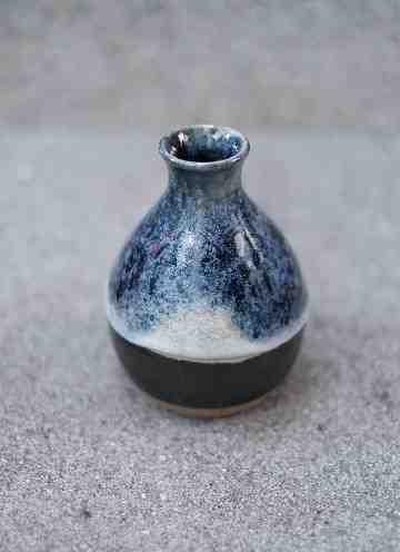 Blue Melted Vase #2
