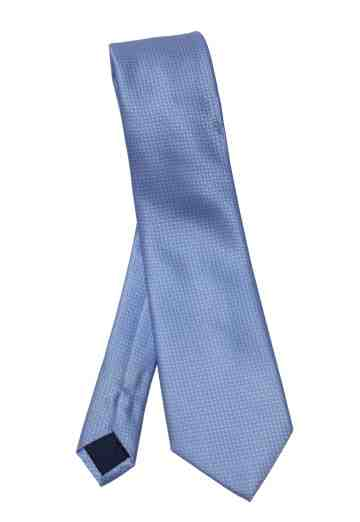 BLUE CHECK TIES SILK image