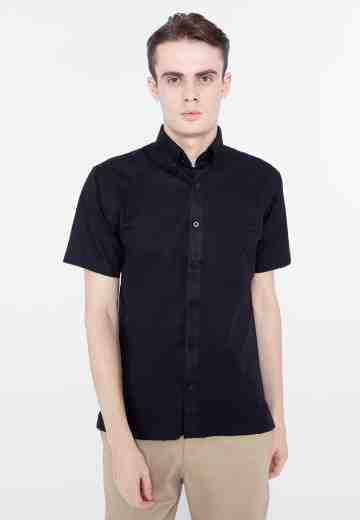 Kemeja manhattan short basic black image