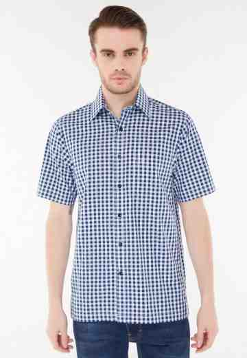 Pierre Cardin Apparel Short Shirt Technoshirt Check 509NV image