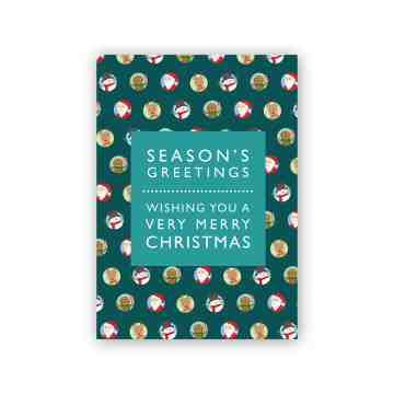Green Pattern Christmas Card