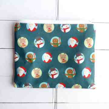 Green Christmas Pouch