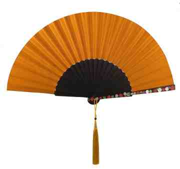 Plain Sea Shell Fan Dark Gold image