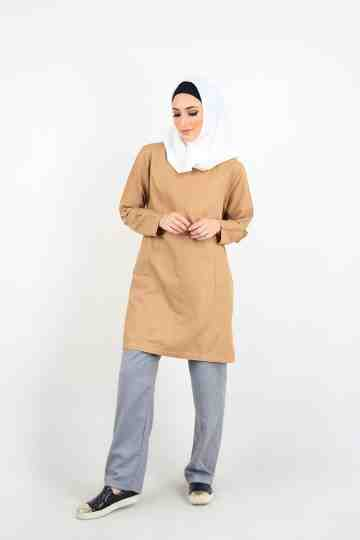 Alya Tunic Light Brown image