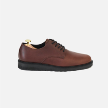 Flat Derby Plaintoe Classic Brown
