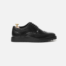 Flat Derby Wingtip Full Brogue Full Black