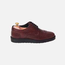 Flat Derby Wingtip Full Brogue Classic Brown