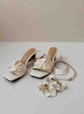 x Tea Label - Sena Heels in White image