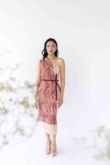 JU HUA DRESS - MAROON image